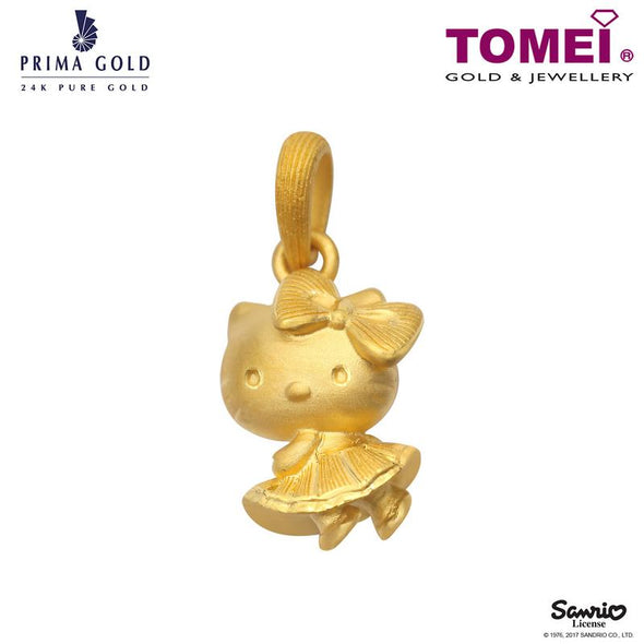 "Tomei x Prima Gold Hello Kitty Yellow Gold 999 (24K) ""Skirt Collection"" Pendant (HK-111P1583)"