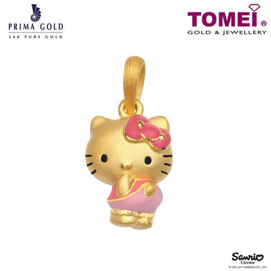 "Tomei x Prima Gold Hello Kitty Yellow Gold 999 (24K) ""Balloonpants Collection"" Pendant (HK-111P1689)"
