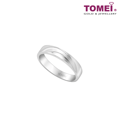 Ring of Sleek with Style | Tomei 925 Silver + Palladium