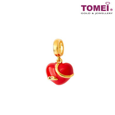 [Online Exclusive] Love at First Bite Snake Charm | Tomei Yellow Gold 916 (22K) (TM-YG0804P-EC)