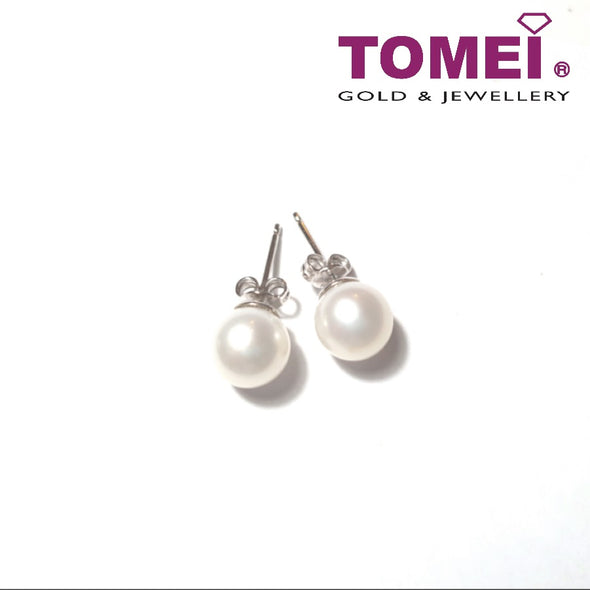 Pearlfect Love Pearl Earrings | Tomei White Gold 585 (14K) (E1813P)