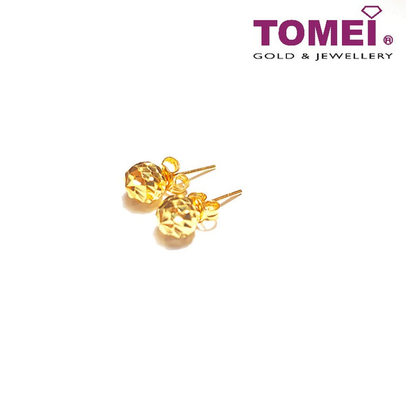 [Online Exclusive] Diva Glitzy Glam Disco Ball Earrings | Tomei Yellow Gold 916 (22K) (9Q-LSRYZ02-ESJ-1C)