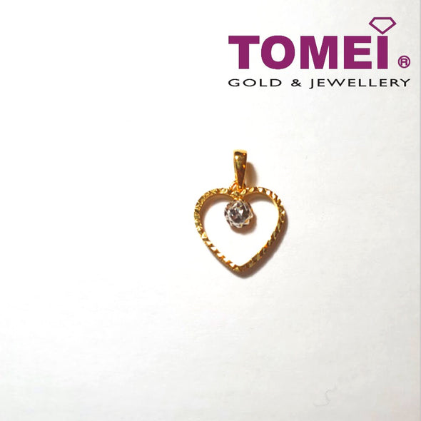 [Online Exclusive] Beguile Glitzy Glam Dual-Tone Pendant | Tomei Yellow Gold 916 (22K) (9P-DM-P5650-2C)