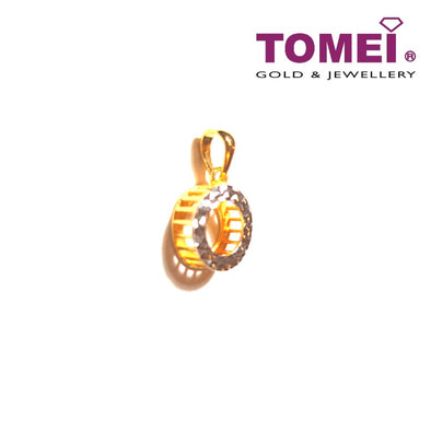 [Online Exclusive] Bebling Glitzy Glam Dual-Tone Pendant | Tomei Yellow Gold 916 (22K) (9P-DM-P6222-2C)