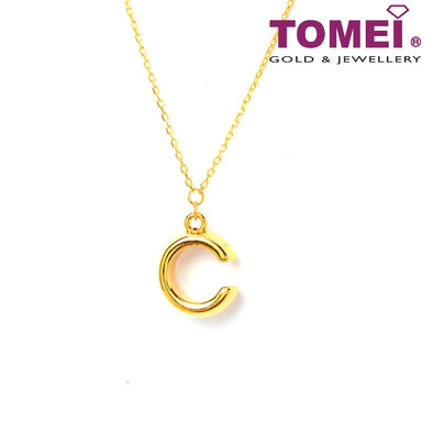 C for Charming Necklace | Tomei Yellow Gold 999 (24K) (BTN-5D-026)