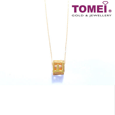 LOVE Cube Necklace | Tomei Yellow Gold 999 (24K) (BBTN-5D-025)