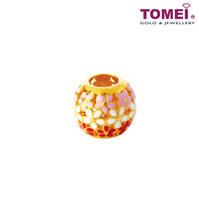 Charm of Broderie Anglaise Garden of Flowers | Tomei Yellow Gold 916 (22K) (TM-YG0474P-EC) Red