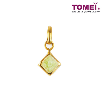 [Online Exclusive][Limited Stock] Zesty Spark of Mint Pendant | Tomei Yellow Gold 916 (22K) (IP-Q2P194105-EC)