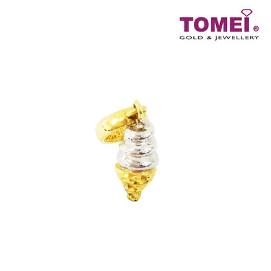 [Online Exclusive]Chillin' Chillin' Ice Cream Charm I Tomei Yellow Gold 916 (22K) with Peach Pink Bracelet(TM-YG0254P-2C)