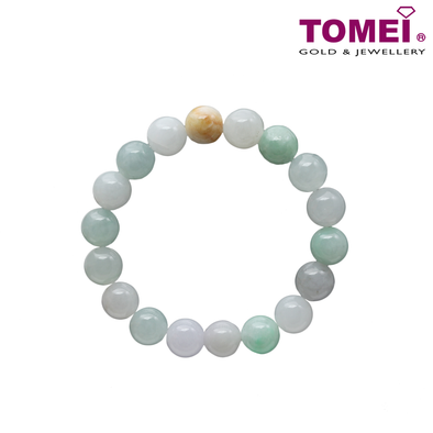 Tomei Palace Grace Light Green Jade Bracelet (JM-XX)