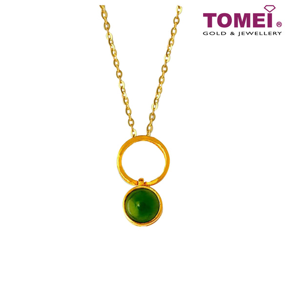 [Online Exclusive] 3-Way Mystical Evergreen Dynasty Nephrite Green Jade Pendant | Tomei Yellow Gold 999 (24K) (NEP-P-004)