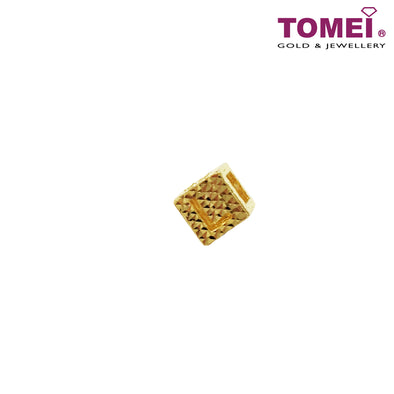 [Online Exclusive]Love In Cube Charm | Tomei Yellow Gold 916 (22K) (TM-YG0352P-1C) Green Bracelet