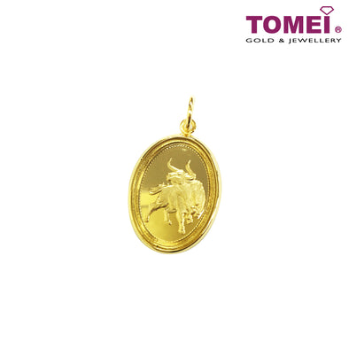 Return to Prosperity Ox Zodiac Silver Pendant | Tomei 999 (24K) Gold Plated (LUCKY-CNY-2021)