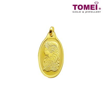 [Online Exclusive] Lady Fortuna Pendant 1.15g | Tomei x PAMP Suisse Yellow Gold 9999 (24K) with Complimentary Rope Necklace (PSC-R-1G)