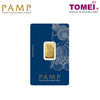 "Tomei x PAMP Suisse Yellow Gold 9999 (24K) ""Lady Fortuna ""Wafer 5 Grams (PSF-R-5G)"