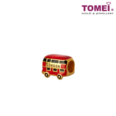 [Online Exclusive]Little London Charm of the Joyful Double Decker Bus Ride | Tomei Yellow Gold 916 (22K) (TM-YG0808P-EC)