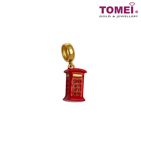 [Online Exclusive]Little London Charm of the Ring Ring Red Telephone Booth | Tomei Yellow Gold 916 (22K) (TM-YG0810P-EC) Red