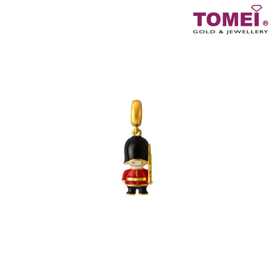 [Online Exclusive]Little London Charm of the Queen's Guard | Tomei Yellow Gold 916 (22K) (TM-YG0807P-EC) Red