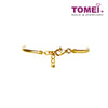 [Online Exclusive]Love of My Life Bow & Bell Baby Bangle with Jingling Sound | Tomei Yellow Gold 916 (22K)(TZ-B2645-EC)