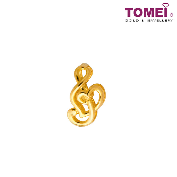 [Online Exclusive]Love Song Charm | Tomei Yellow Gold 916 (22K) (TM-PT132-1C)