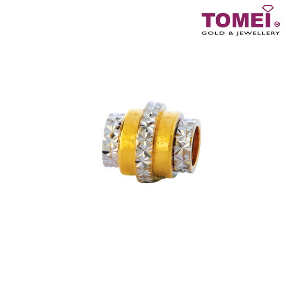 [Online Exclusive]Charm of Trebly Tiered Elegance | Tomei Yellow Gold 916 (22K) (TM-YG0759P-2C) Black