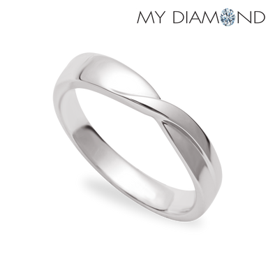 Tomei White Gold 375 (9K) Soul-Tie Wedding Band (SOU-R5491V)