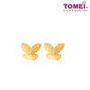 [Online Exclusive]Minimalist Butterfly Earrings | Tomei Yellow Gold 916 (22K) (9Q-SZE-13-1C)