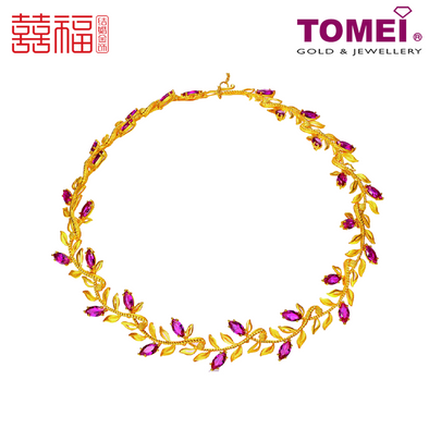 [ONLINE EXCLUSIVE PRE ORDER] Tomei x Xifu Yellow Gold 999 (24K) Laurel Tree Goddess Necklace 月桂女神项链 (XF-YGNS-N)