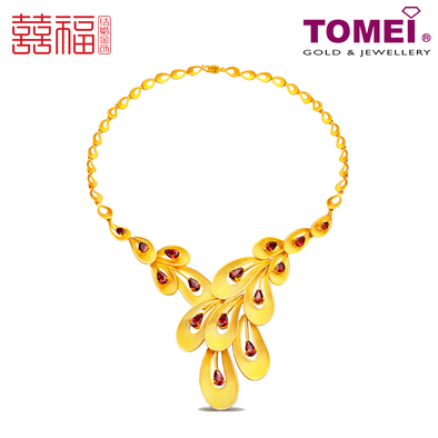 Tomei x Xifu Yellow Gold 999 (24K) All Glorious is the Bride Necklace 凤冠霞帔项链 (XF-FGXP-N)