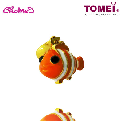 "Tomei Yellow Gold 916 (22K) Ocean of Dreams ""Clownfish"" Chomel Charm (TM-YG0616P-EC)"