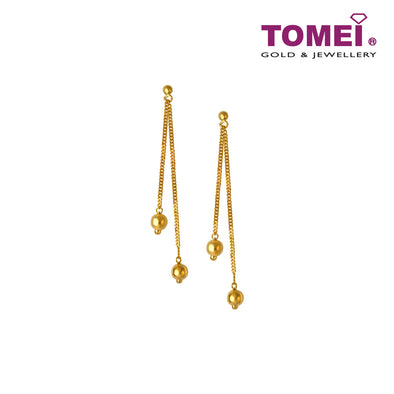 [Online Exclusive]Petite Spheres Drop Earrings | Tomei Yellow Gold 916 (22K)(EE900-B-1C)