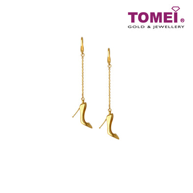 [Online Exclusive]Golden Stilettos Drop Earrings I Tomei Yellow Gold 916 (22K) (9Q-SZE-2#1-1C)