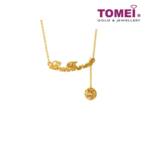 [Online Exclusive]Loving You Forever Necklace | Tomei Yellow Gold 916 (22K) (NN3180-1C)