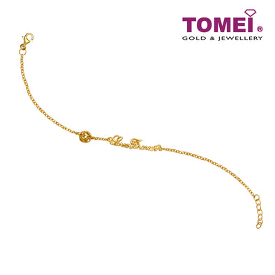 [Online Exclusive]Loving You Forever Bracelet | Tomei Yellow Gold 916 (22K)(BB3180-1C)