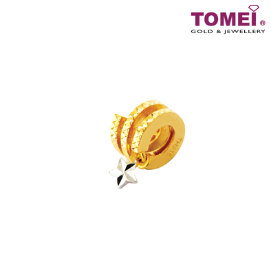 [Online Exclusive] Flying Star Charm | Tomei Yellow Gold 916 (22K) (TM-YG0686P-2C)