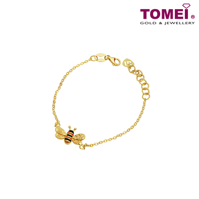 Bee Brave Bee Expandable Kid Bracelet | Tomei Yellow Gold 916 (22K) (TZ-C88-2-EC)
