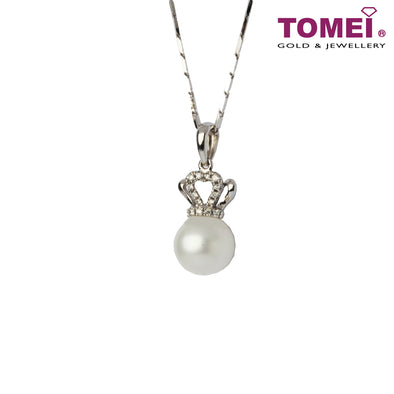 Irresistibly Luminous Pearl and Diamond Necklace | Tomei White Gold 375 (9K)  & 585 (14K)