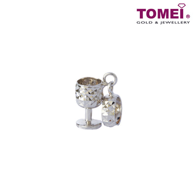 [Online Exclusive]Mosaicked Goblet of Pride and Glory Charm | Tomei White Gold 585 (14K) (P41) Black