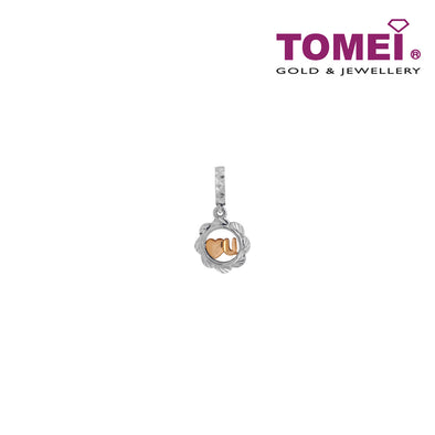 Averment of Love and Romance Charm | Tomei White Gold 585 (14K) (P5520)