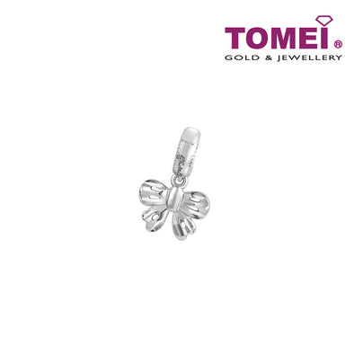 Elegantly Dandy Ribband Charm | Tomei White Gold 585 (14K) (P5529/MF299)