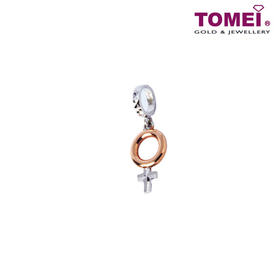 [Online Exclusive]Charm of You & Me - Female Symbol | Tomei White Gold 585 (14K) (P5722) Peach Pink