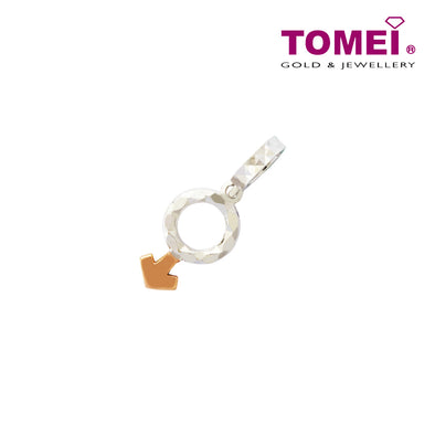 [Online Exclusive]Charm of You & Me - Male Symbol | Tomei White Gold 585 (14K) (P5725) Black