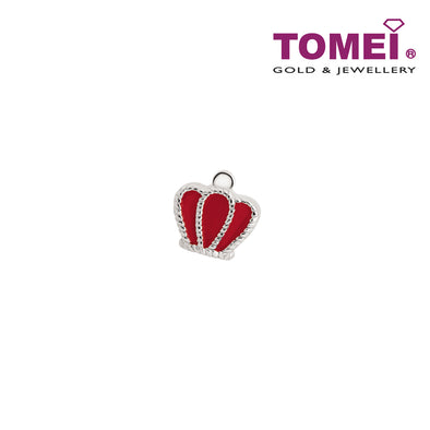 Regally Rouge Crown Charm | Tomei White Gold 585 (14K) (P5755)