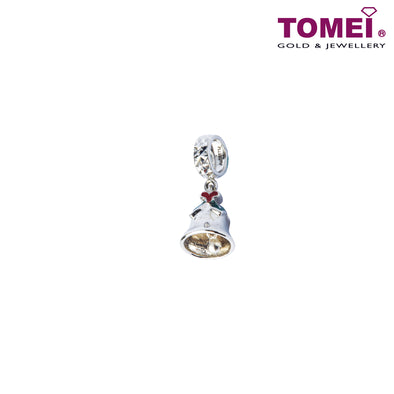 [Online Exclusive][Last Pieces]Charm of Mistletoe and Bell | Tomei White Gold 585 (14K) (P5763) Green