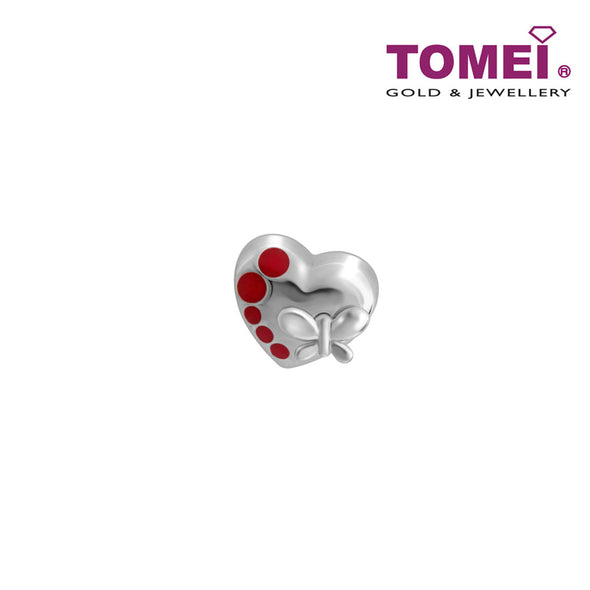 Drifting Notes of Love and Romance Charm | Tomei White Gold 585 (14K)