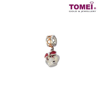 [Online Exclusive][Last Pieces]Charm of Pottery with Ribbon and Glazed Sweetness | Tomei White Gold 585 (14K) (P5791) Peach Pink