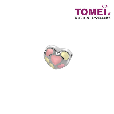 Conspicuously Loving and Romantic Charm | Tomei White Gold 585 (14K) (P5817)