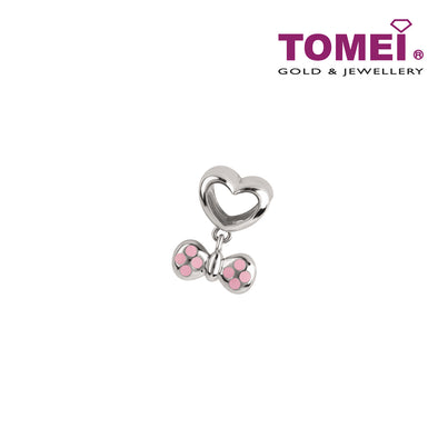 Charm of Sprinkles in Pink Ribband | Tomei White Gold 585 (14K) (P5870)