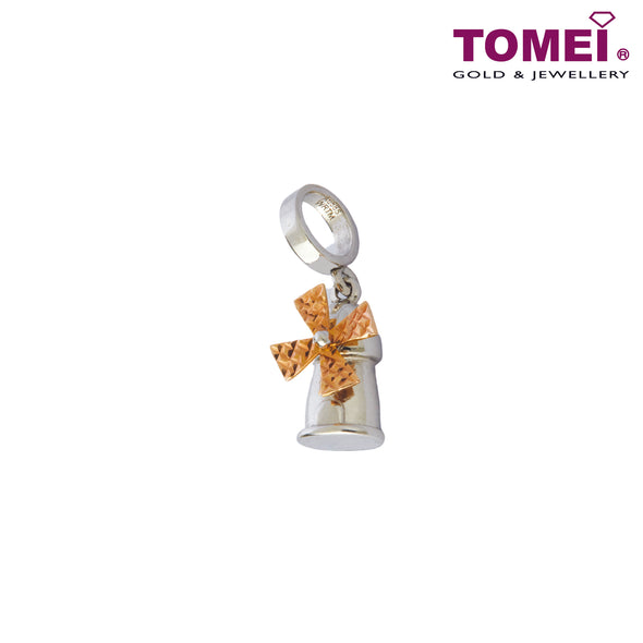 [Online Exclusive][Last Pieces]Winsome Windmill Charm | Tomei White Gold 585 (14K) (P5921) Sky Blue
