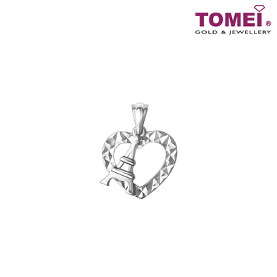 Enchanted Love White Gold Diamond Pendant | Tomei White Gold 585 (14K) (P6097) with Complimentary Silver Chain